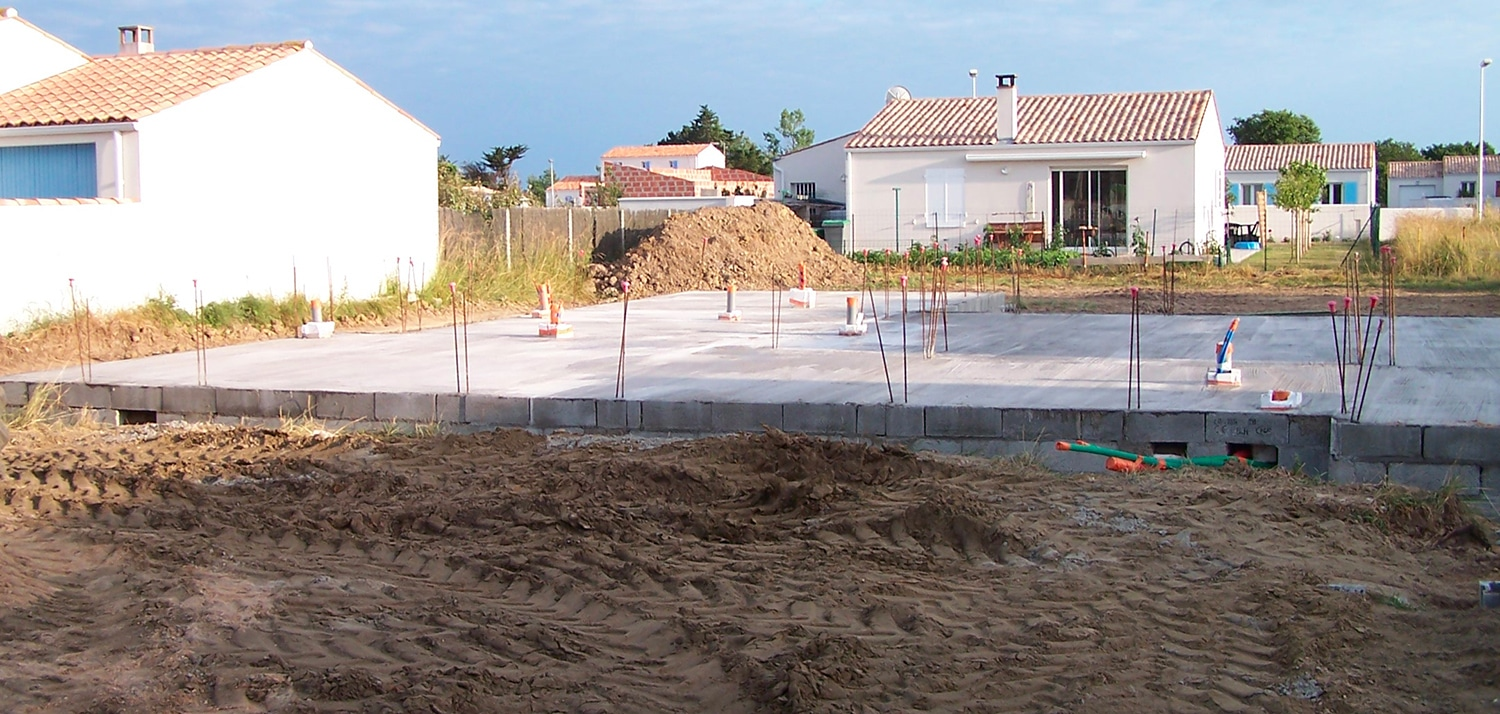 dallage construction maison oleron