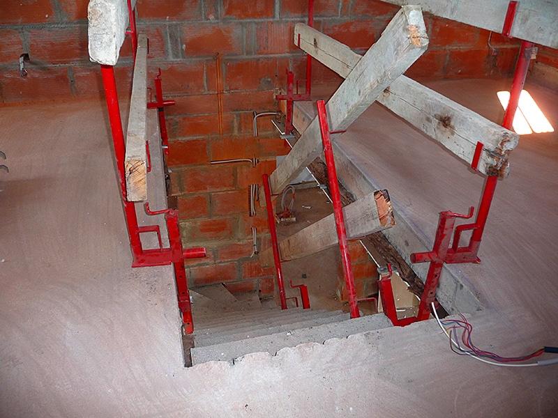 escalier beton maison oleron