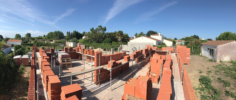 Maconnerie construction maison oleron chantier